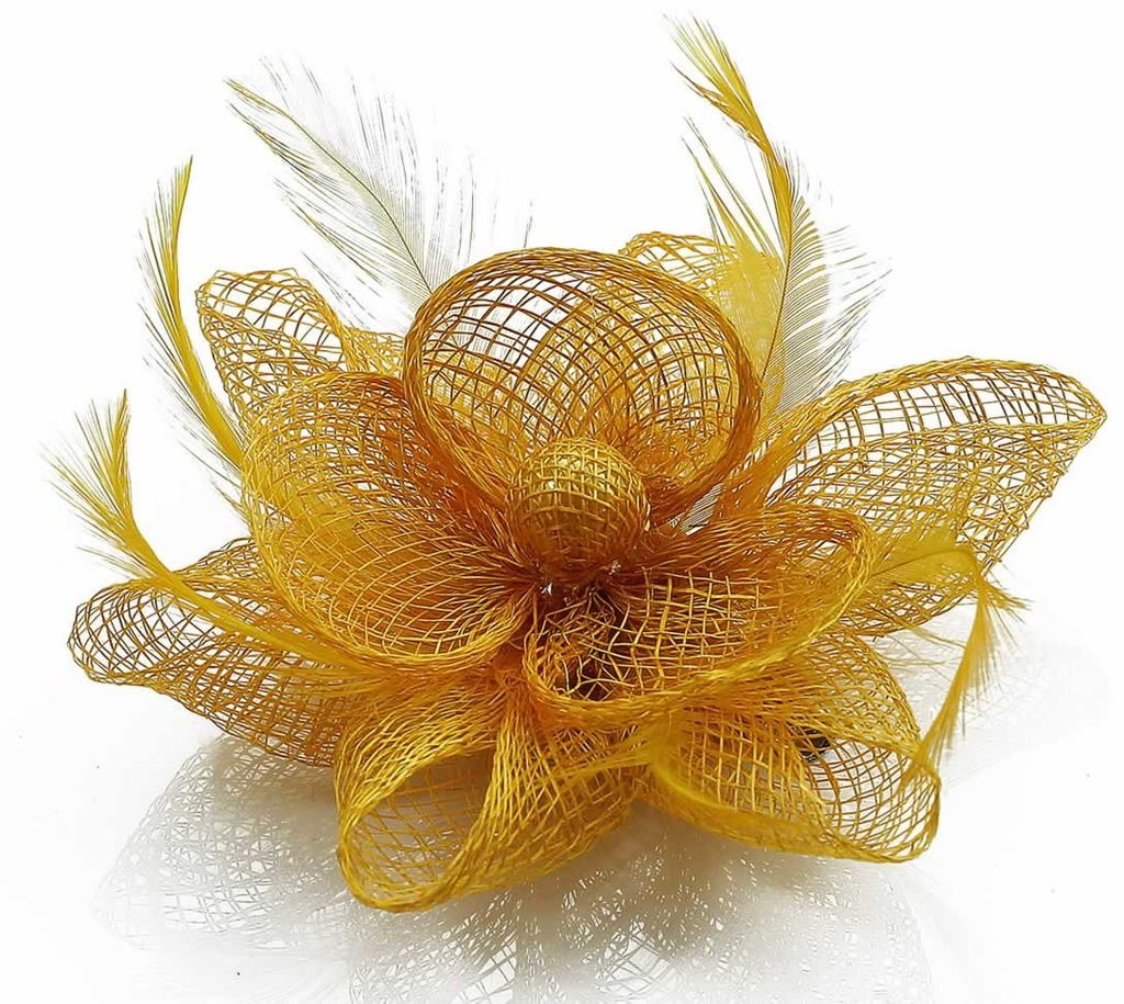 Fascinator för Bröllopskyrkan Tea Party Mesh Flower Fascinator