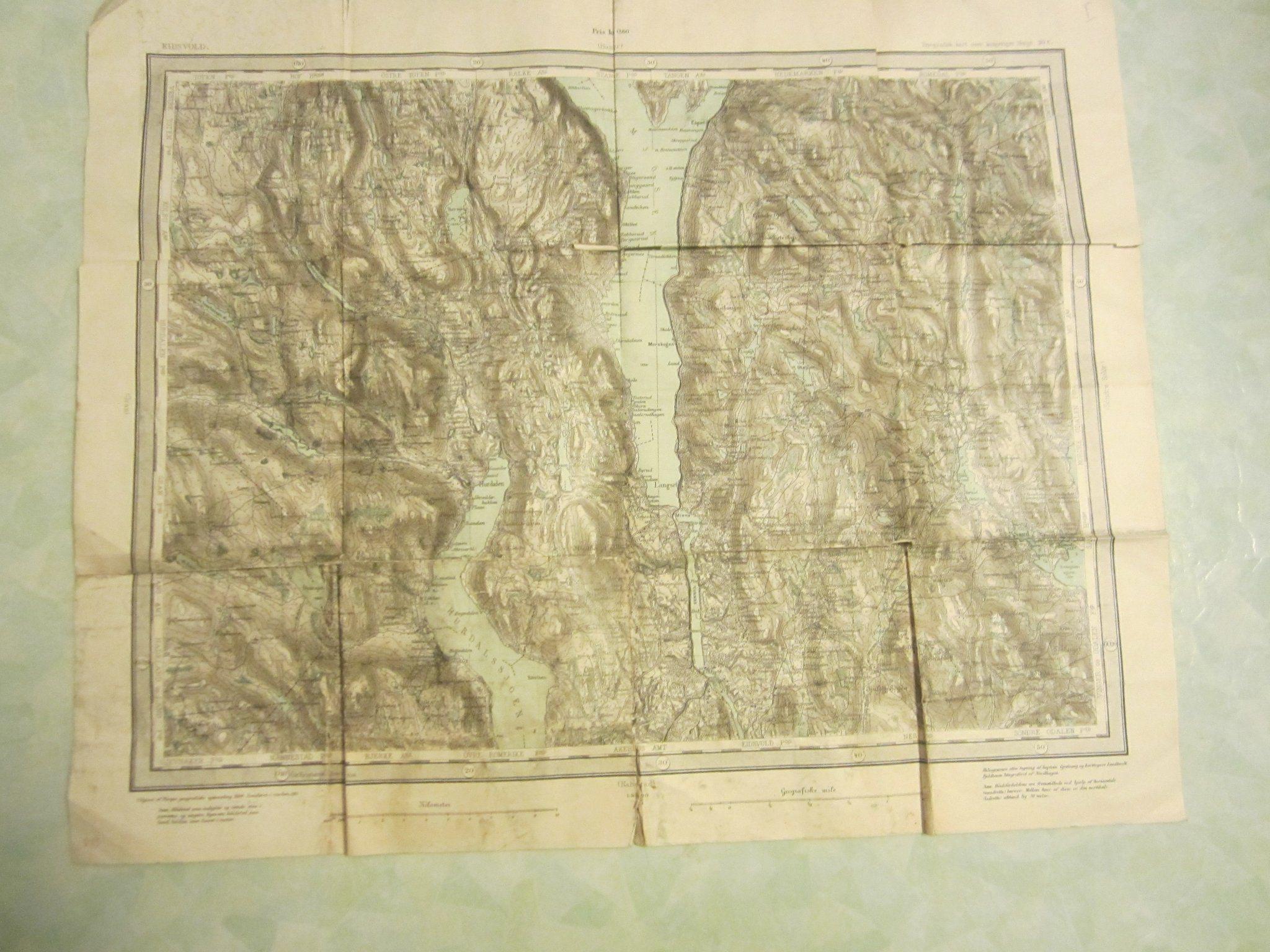 Karta Syd Norge.Gammal Karta Eidsvold Norge Fran Ar 1910 342454150 ᐈ Kop Pa Tradera