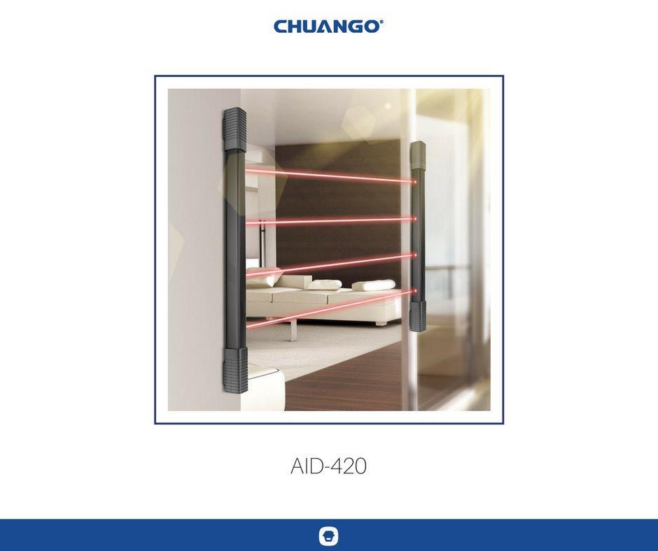 Chuango AID-420 Multistrålande IR-sensorer TRÅDLÖST SKYDD 3ÅR BATTERI