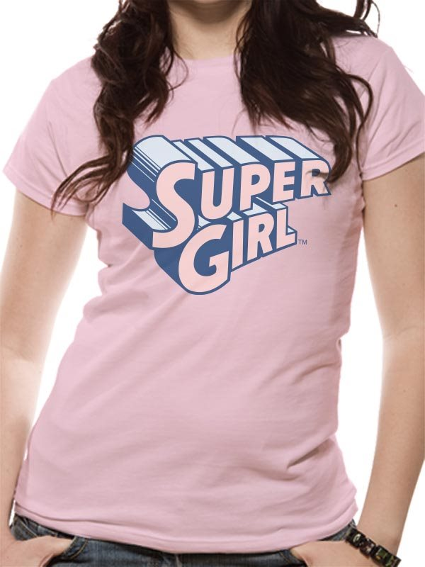 SUPERGIRL - TEXT & LOGO T-Shirt (FITTED) - X