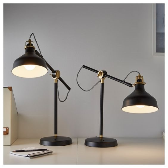 Attraktiva Ikea RANARP lamp svart bordslampa skrivbordslam.. (350018979) ᐈ ML-65