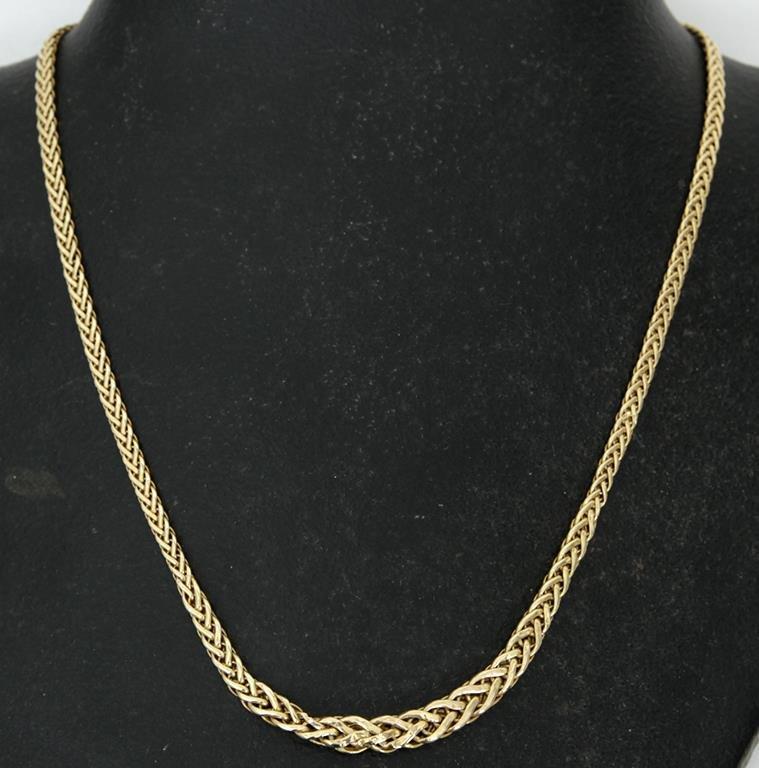Topmoderne Halsband i 18K K Guld - 750 - 7,7 g.. (350148588) ᐈ Auktionsbyra AG-72