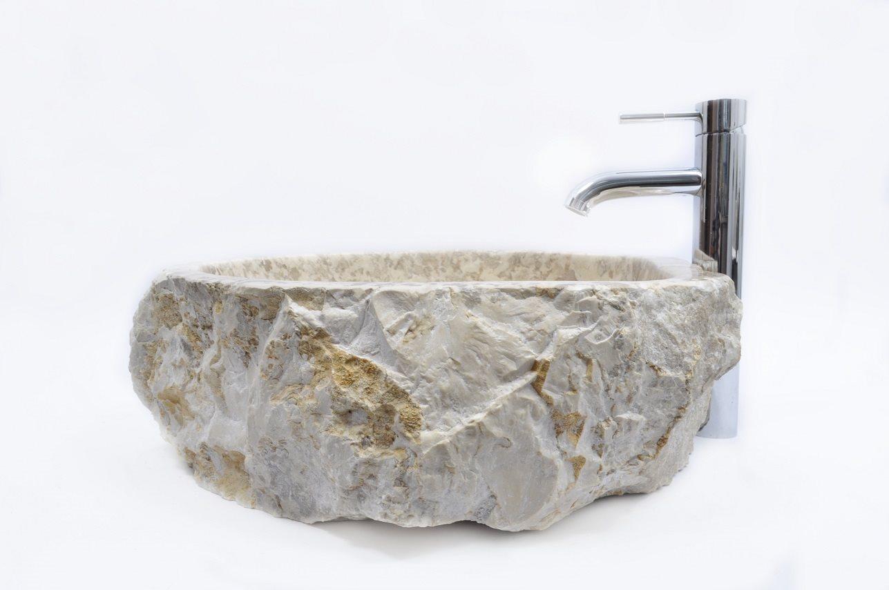 Tvättställ;sten sjunker; Handfat InduStone Marble Erosi I C på