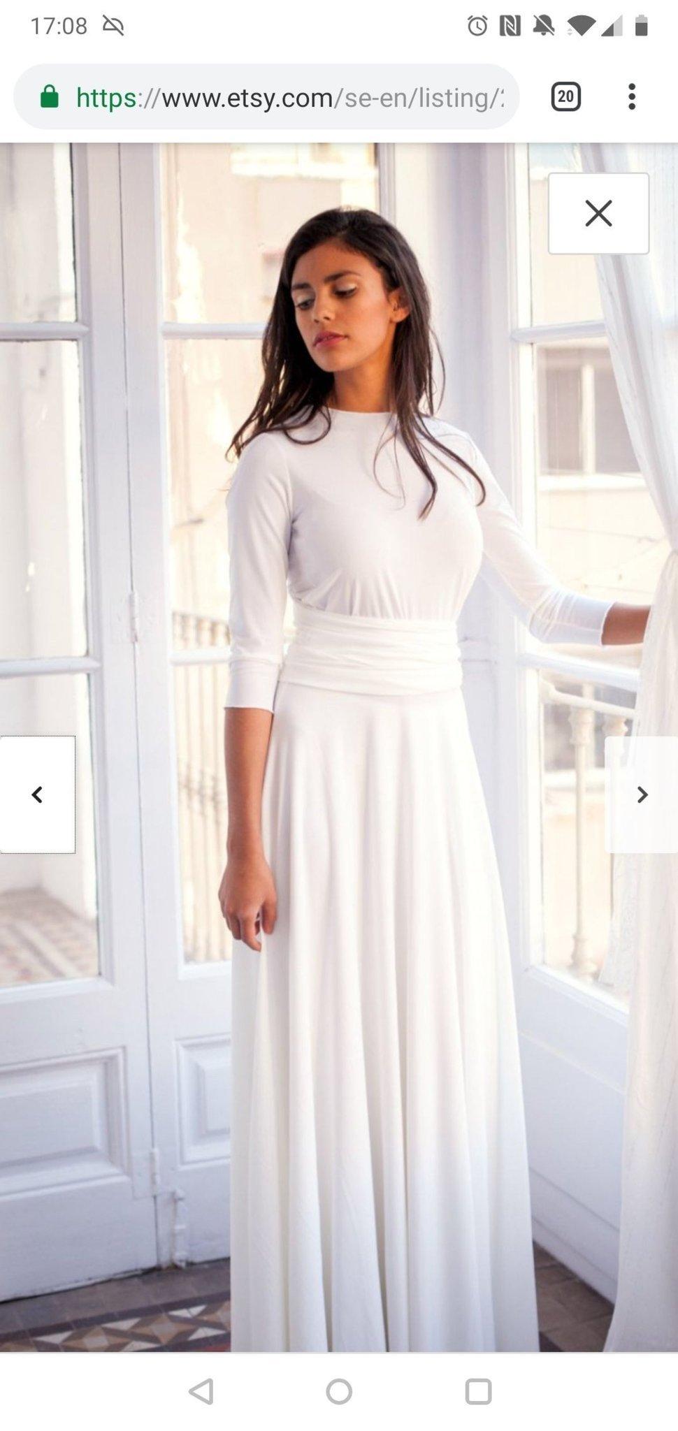 edd196a74f09 Vacker lång brudklänning, ivory, lång ärm strl 36 (351409118) ᐈ Köp ...