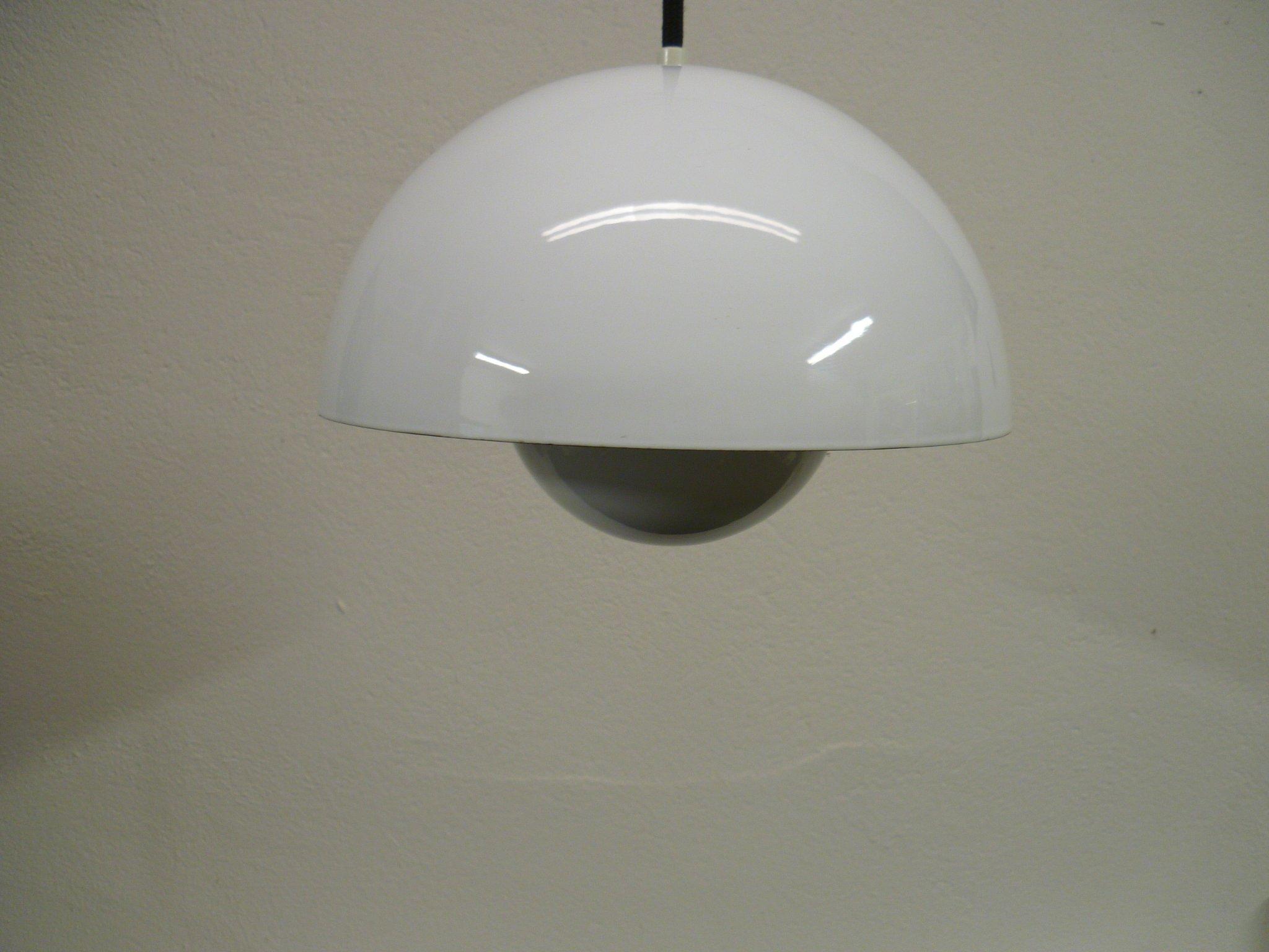 Taklampa fönsterlampa Flower Pot, design Verner Panton, 19601970 tal, vit