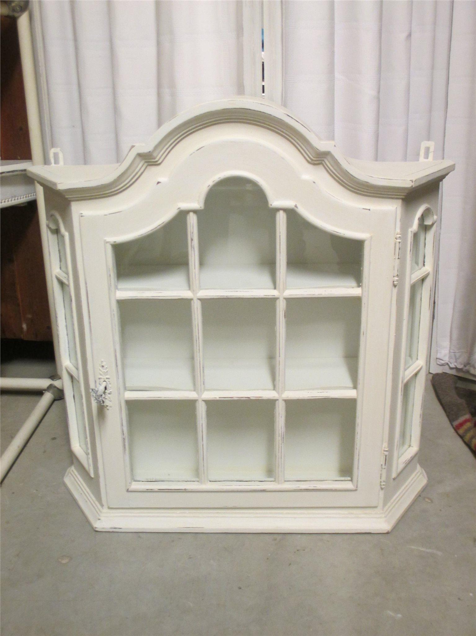 vitt vägg-vitrinskåp, väggskåp, hängande, k.. (312183325) ᐈ köp på