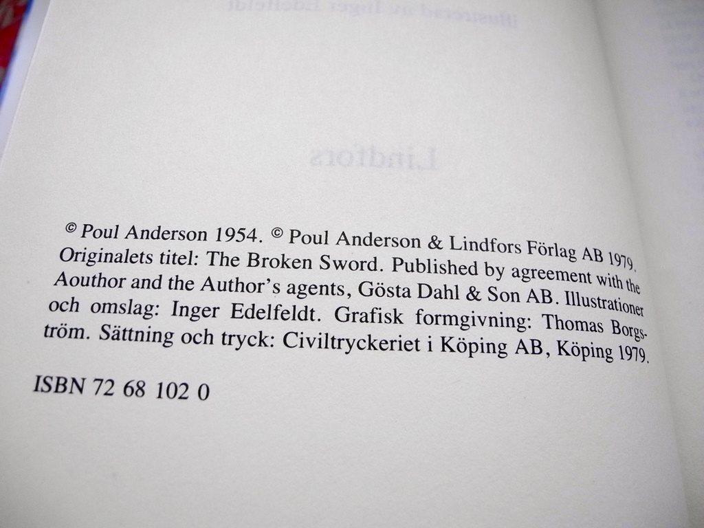 DET BRUTNA SVÄRDET SVÄRDET SVÄRDET Poul Anderson 1979 38df5c