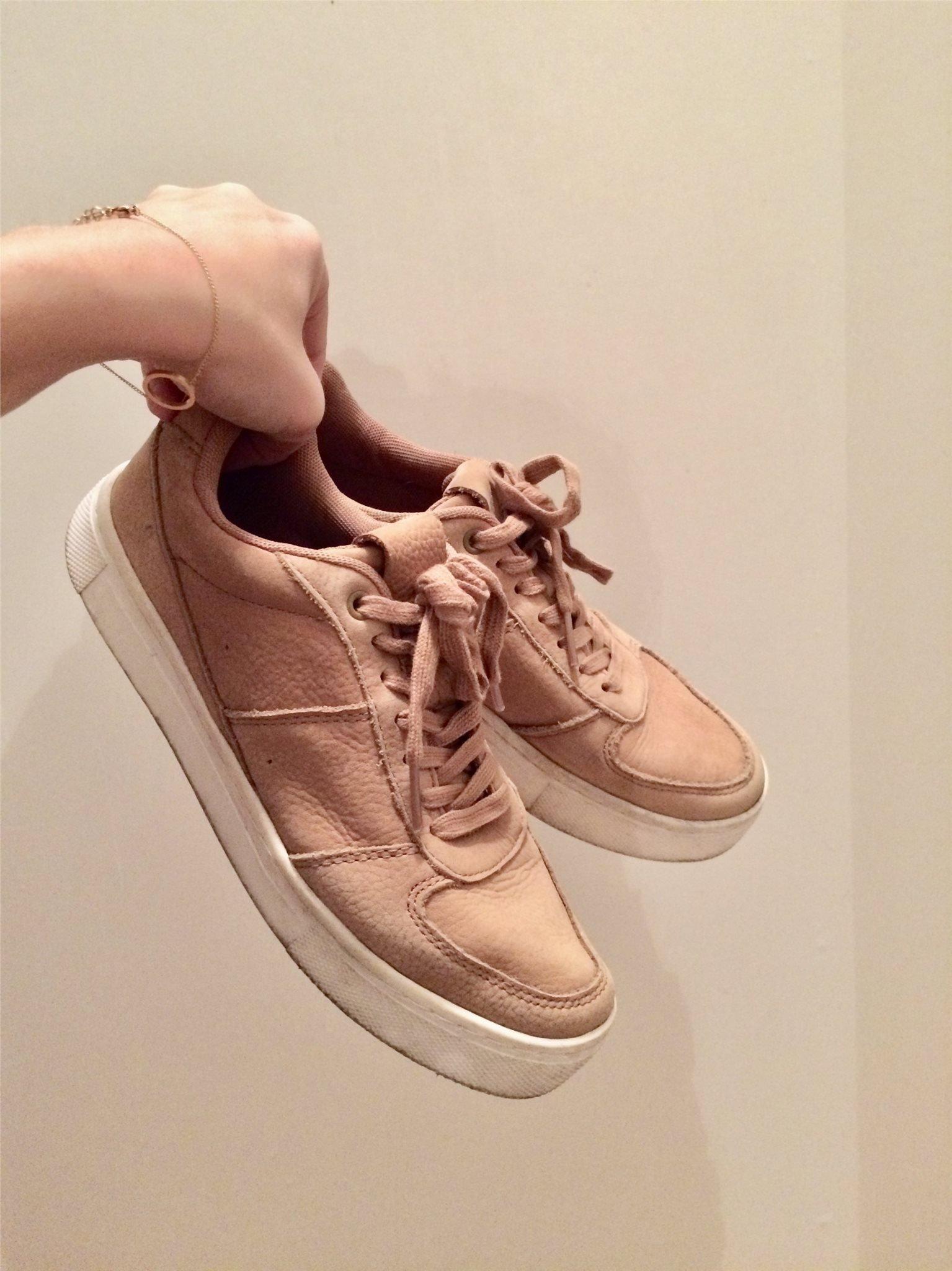de1c2852c49 Sneakers i brun mocka, storlek 38, H&M (349624548) ᐈ Köp på Tradera