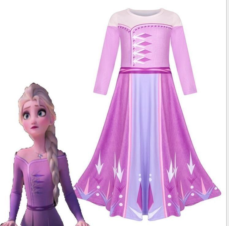 Storlek 150 Frozen Frost Anna klänning barn Prinsessa Fri Frakt Ny