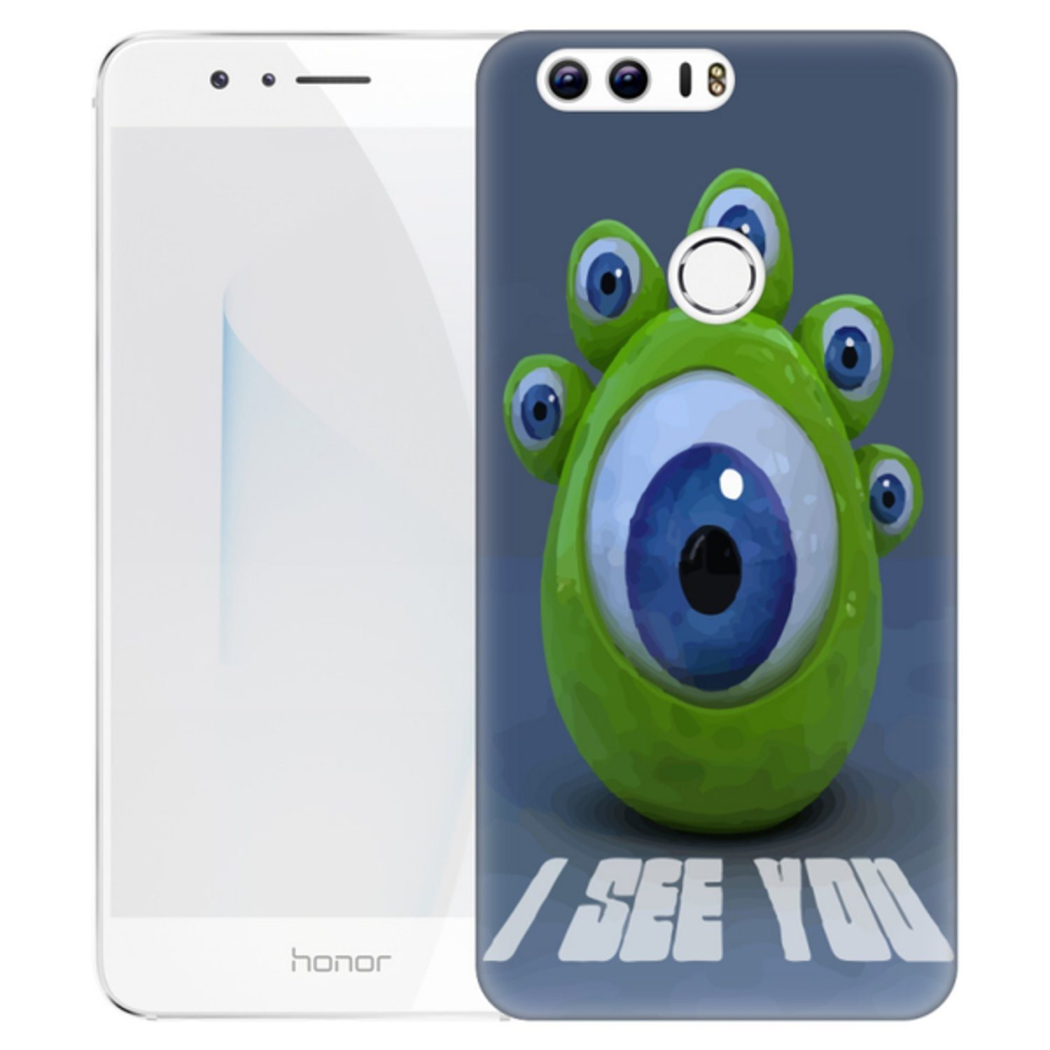 Huawei Honor 8 Skal Ögon Monster