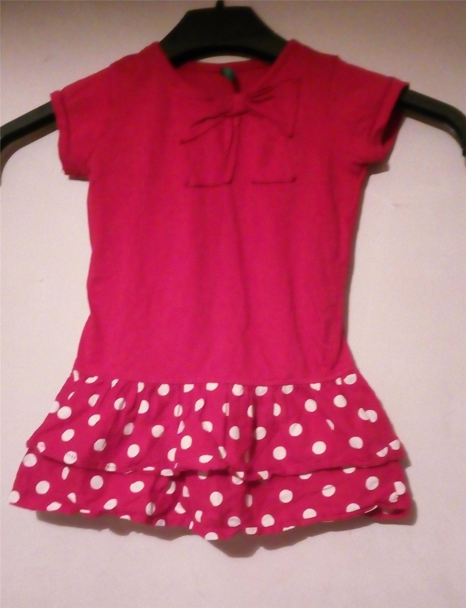 596e6b8c1400 Supersöt röd klänning polkadot från Benetton (342266566) ᐈ Köp på ...