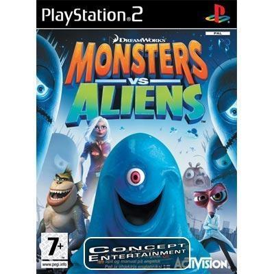 MONSTERS VS ALIENS, PÅ SVENSKA (komplett) till Sony Playstation 2, PS2
