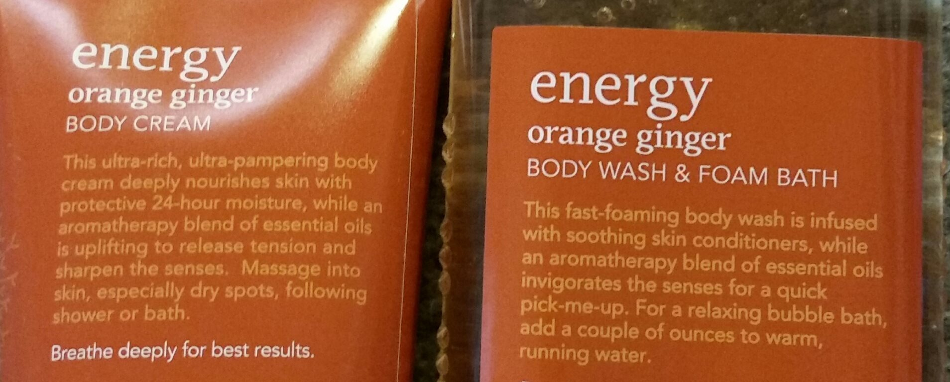 Energy Orange Ginger Bath Body Works Cream 226g Shower Gel Aromatherapy Wash