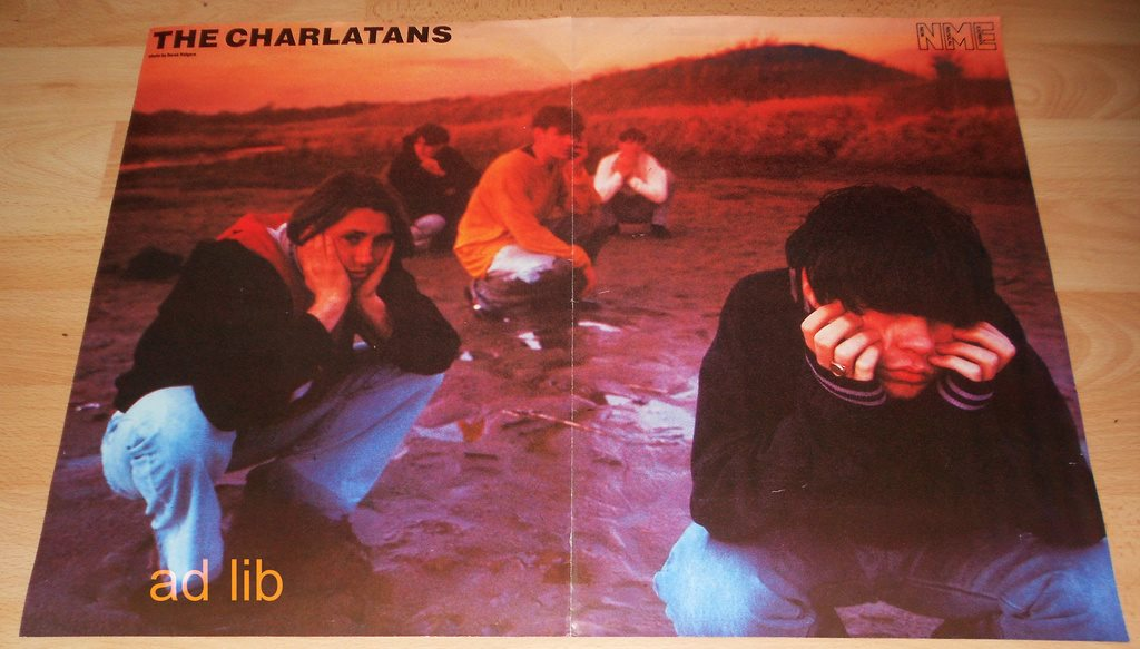 THE CHARLATANS, POSTER 1990