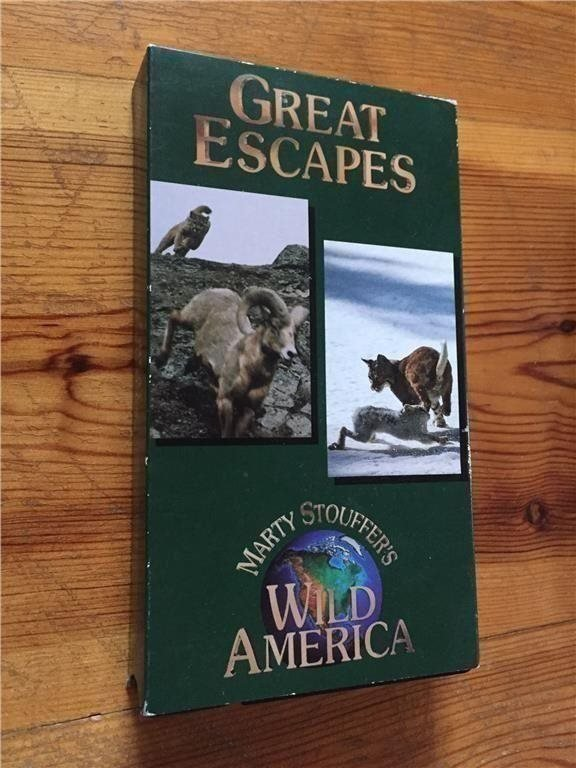 Marty Stouffer's  -Great Escapes  (original VHS)