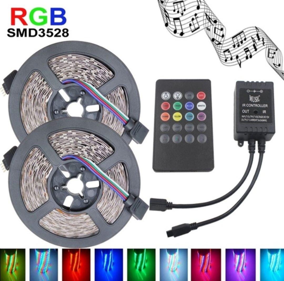 10 Meter 2x5M Multicolor LED Slinga Av Typen SMD 3528
