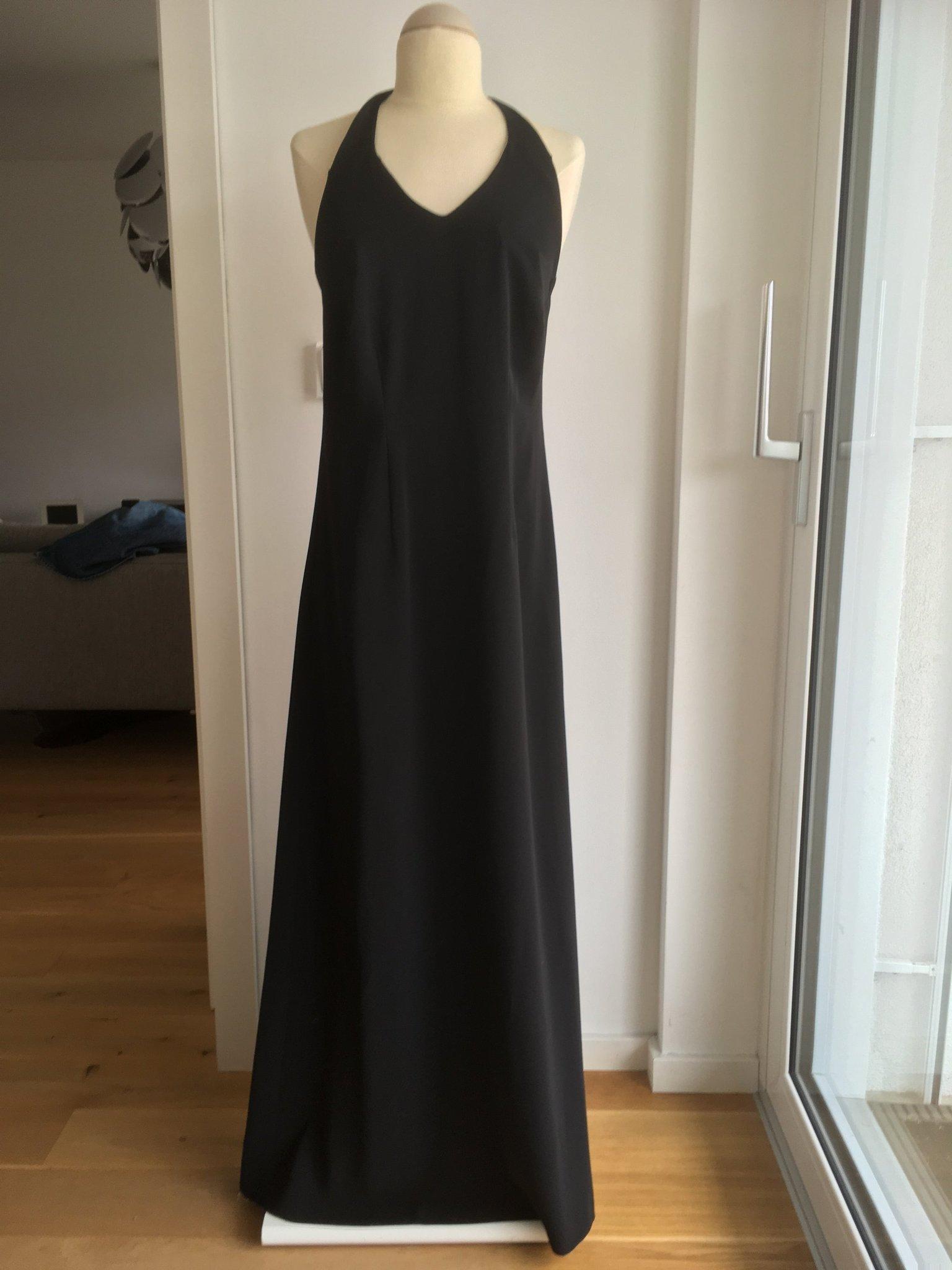 Häger Stockholm svart halterneck klänning, stl 42