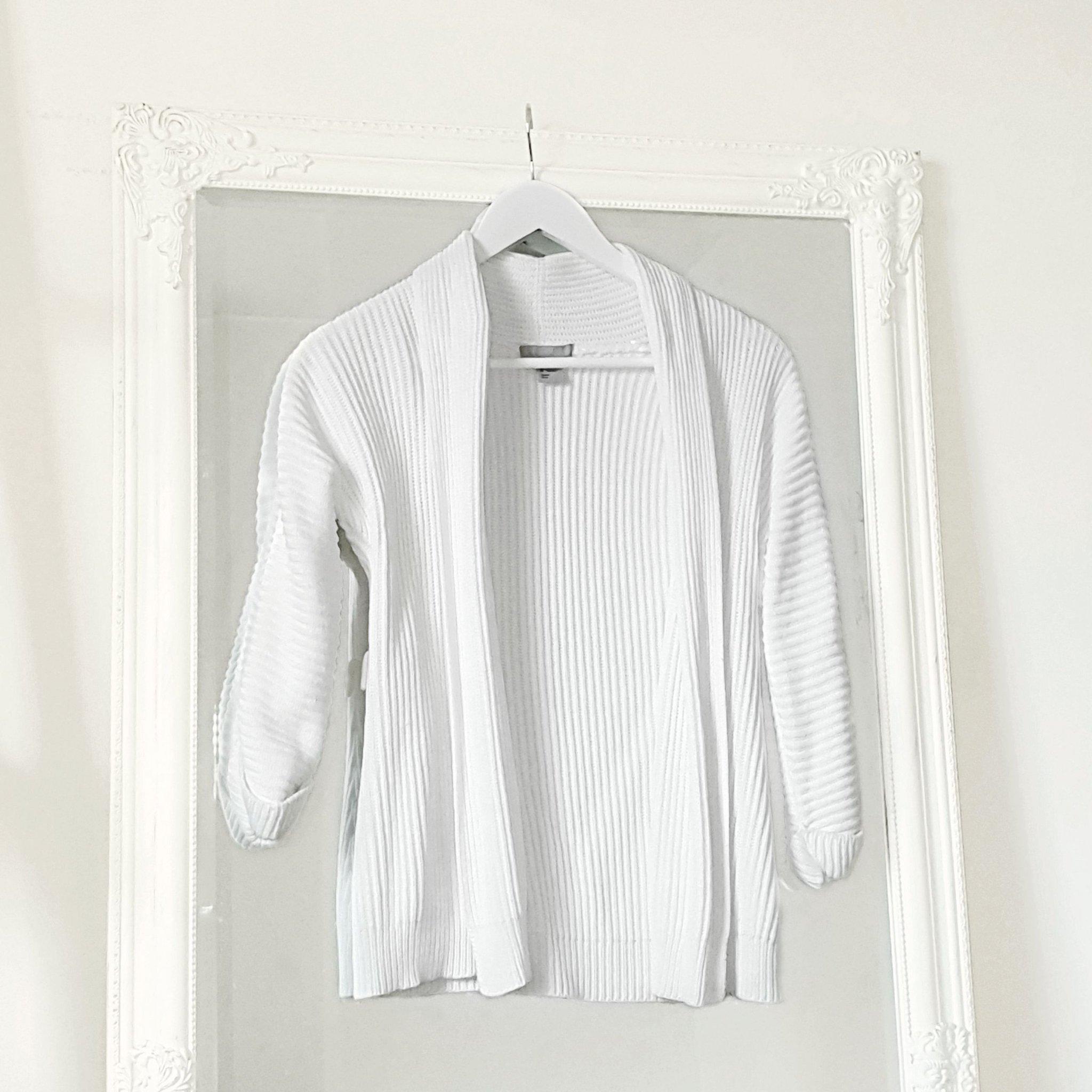 vit kofta XS H&M kort modell chic klassisk stil.. (420369401