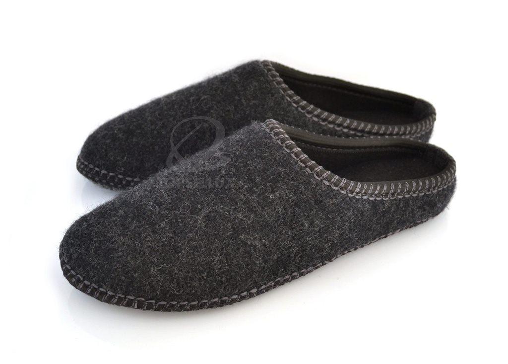 b5f9ab74117 Helt nya mysiga unisex dam filt tofflor inneskor damer skor present stl 36  grå ...