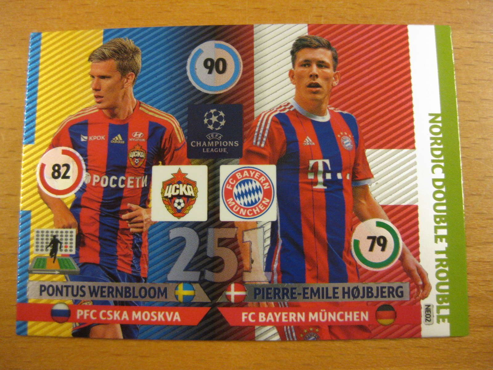 NORDIC DOUBLE TROUBLE -  WERNBLOOM / HÖJBJERG - CL 2014-15