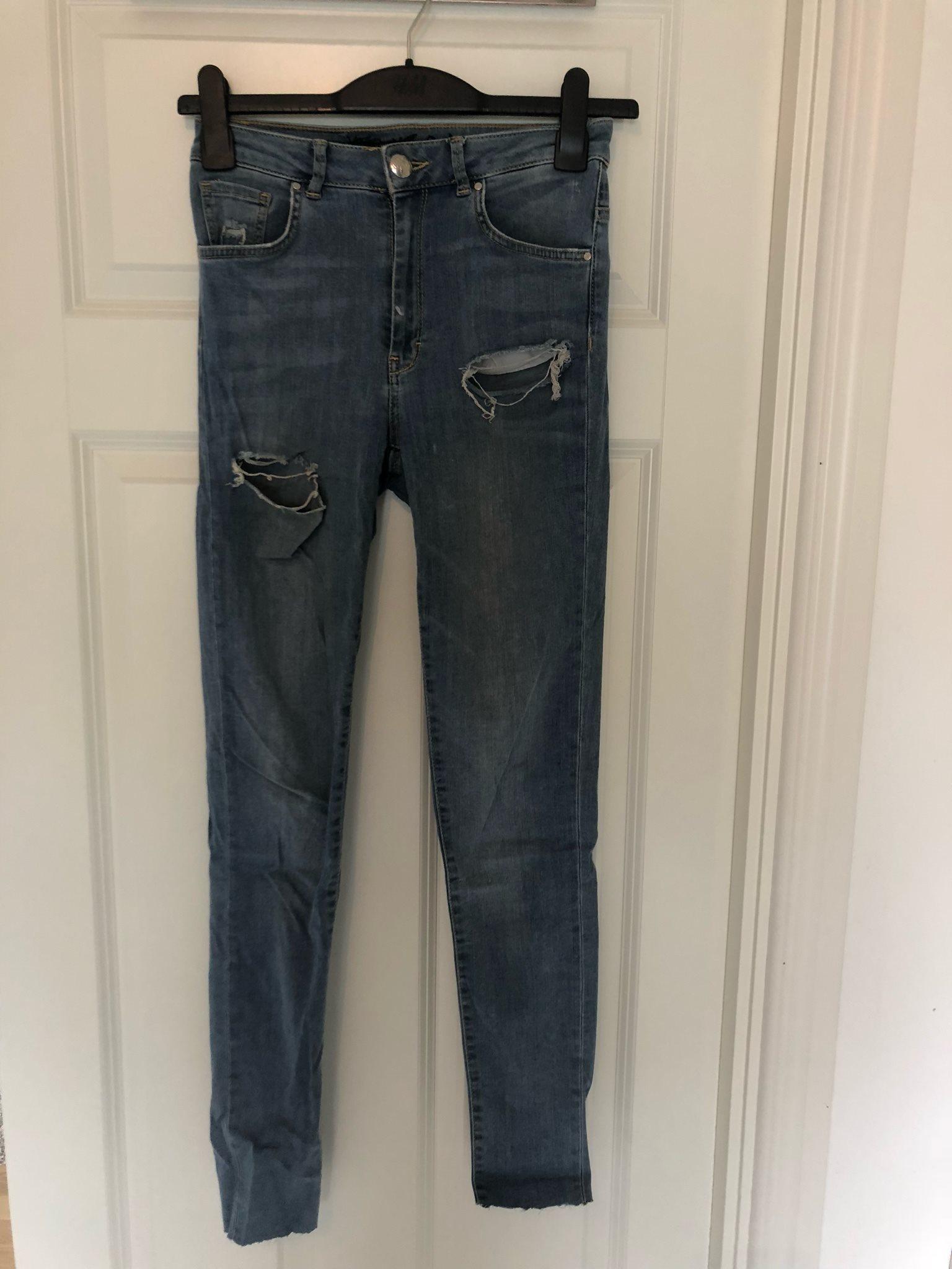slitna jeans dam bikbok