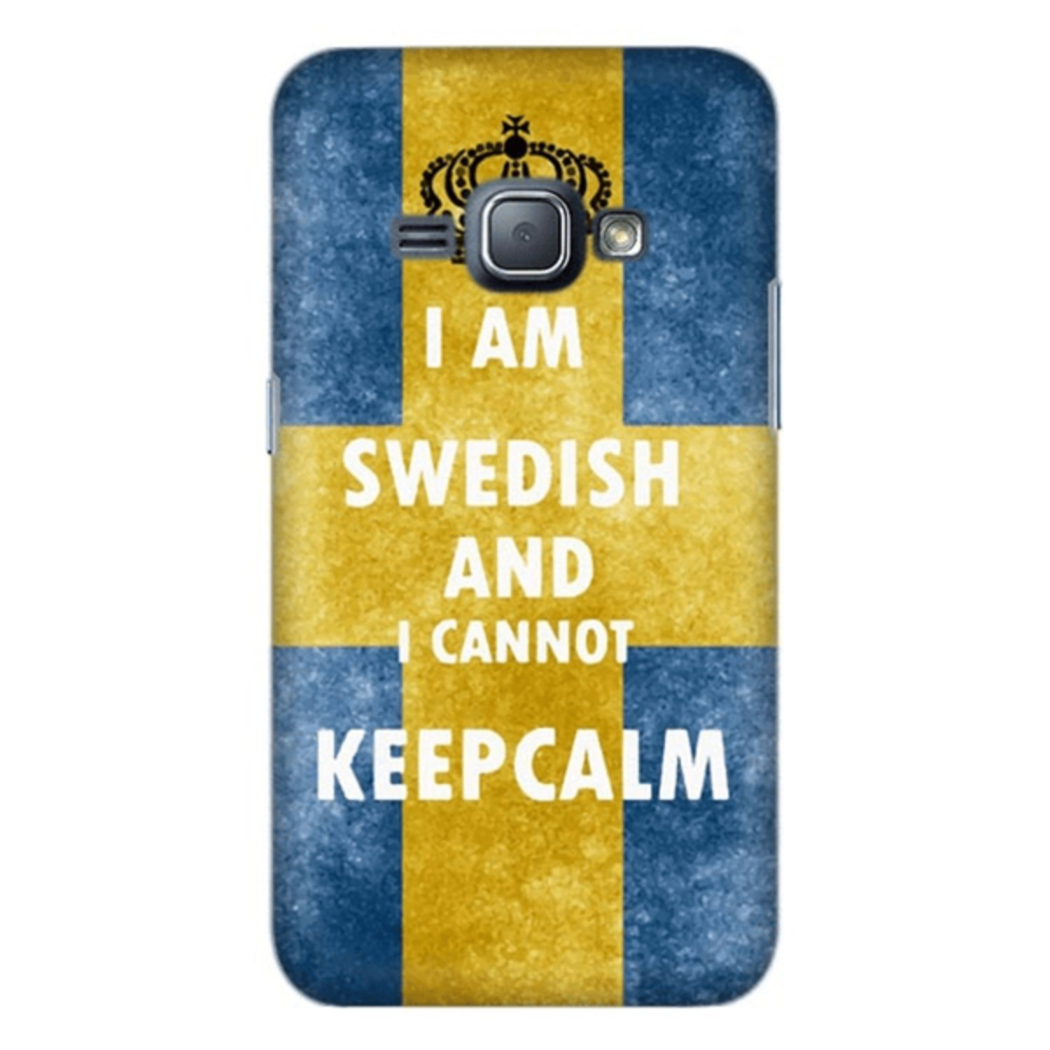 Samsung Galaxy J1 (2016) Skal Keep Calm Swedish