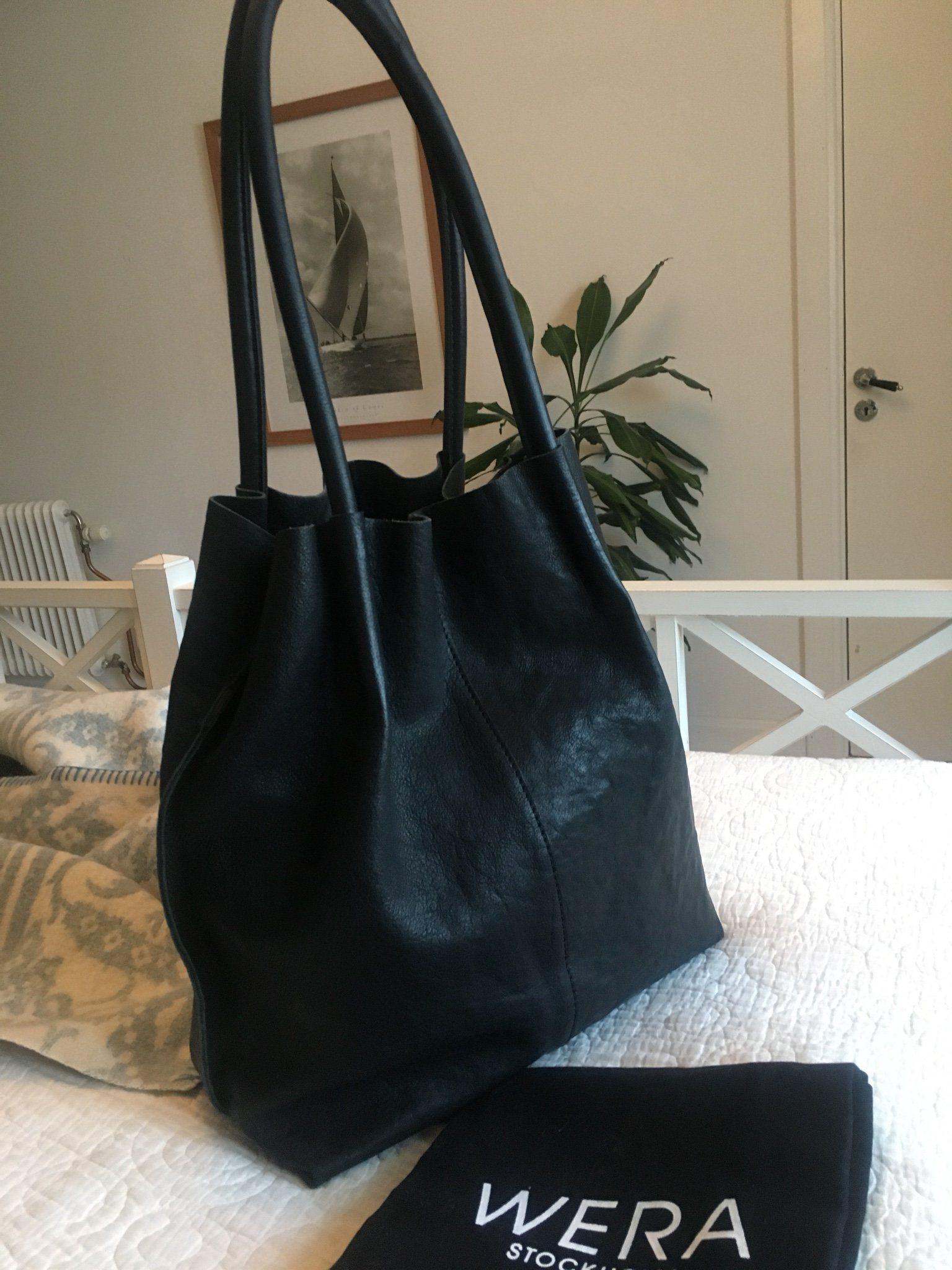 shopper väska svart