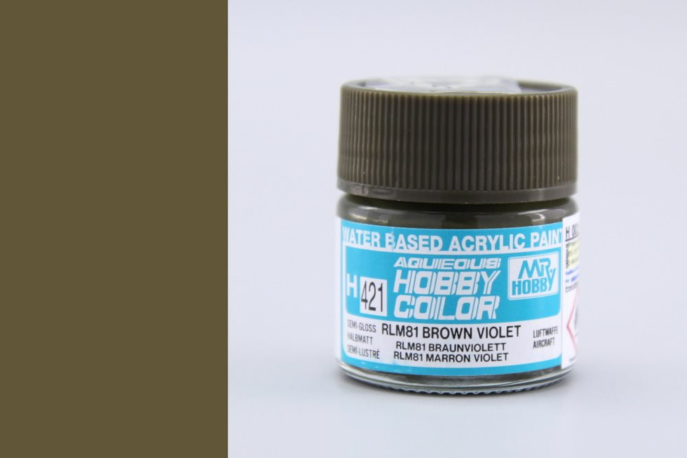 Gunze Mr Hobby Aqueous Hobby Color 10ml - H421 RLM81 Brown Violet (Semi-Gloss)