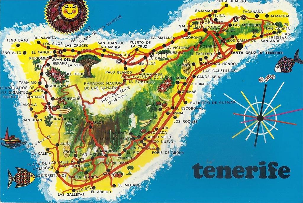 teneriffa karta Turistkarta över Teneriffa   crosschapters.info teneriffa karta