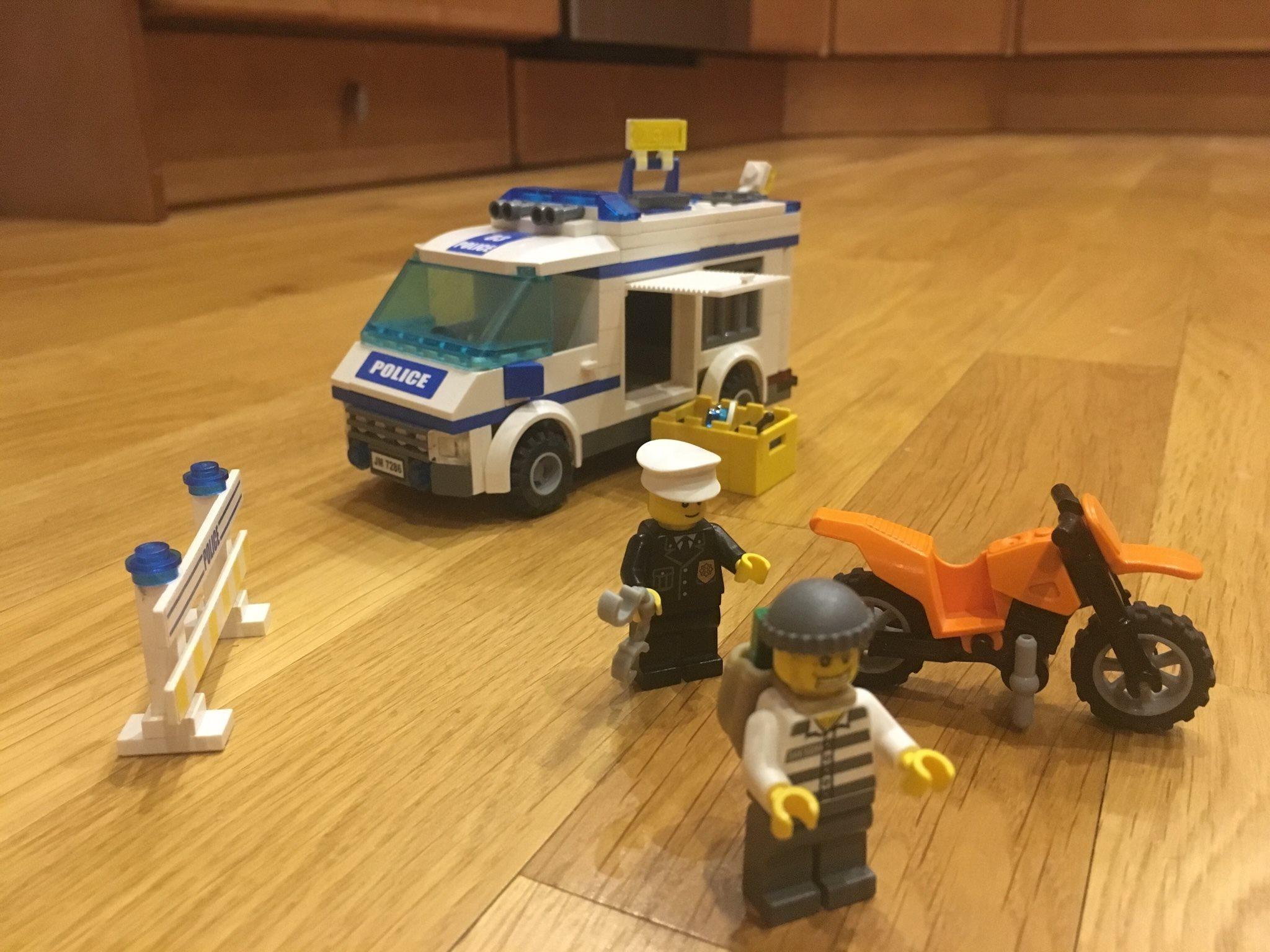 Lego 7286 7286 7286 Fångtransport 0cba32