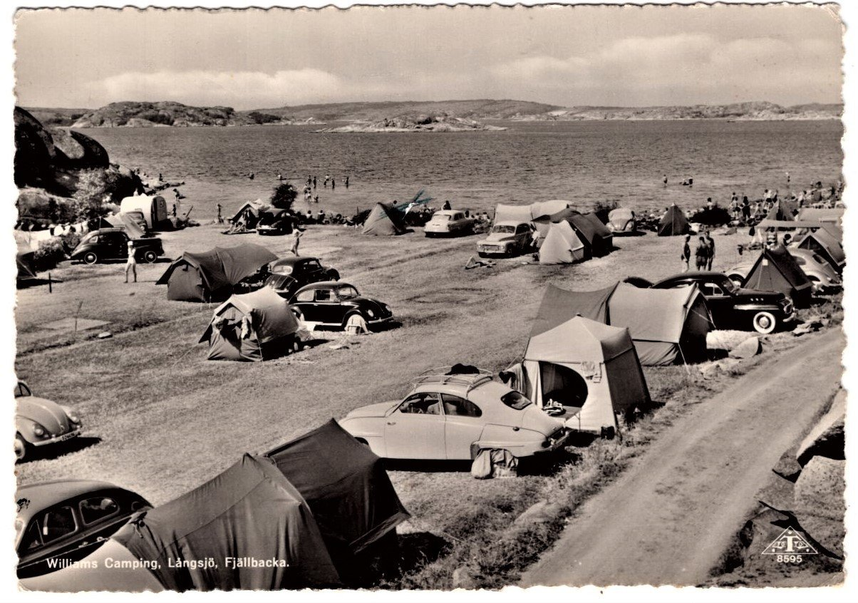Williams Camping Långsjö Fjällbacka bilar tält (406705047