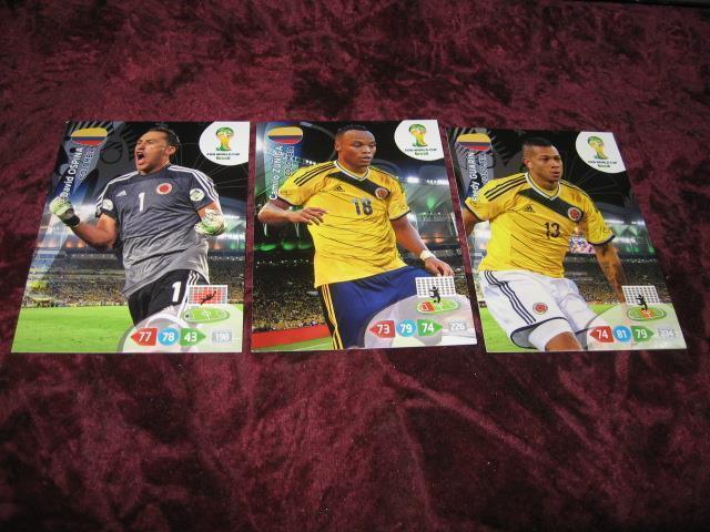3 St Colombia Fotbolls Kort Fifa World Cup 2014 251513314 ᐈ