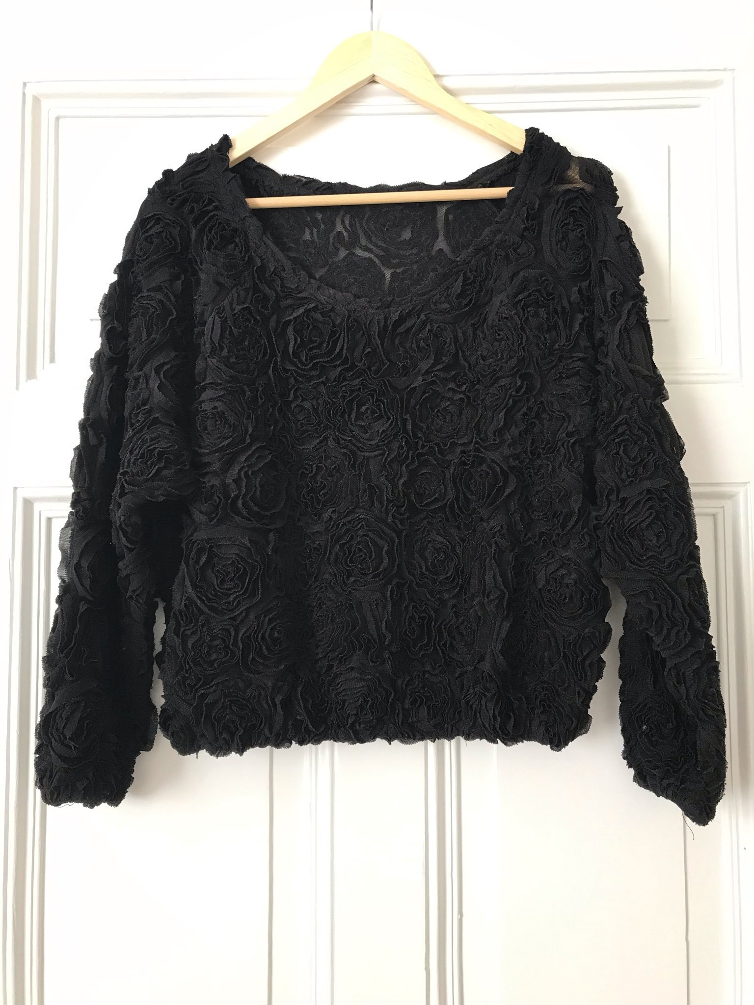 American apparel flower mesh jumper svart