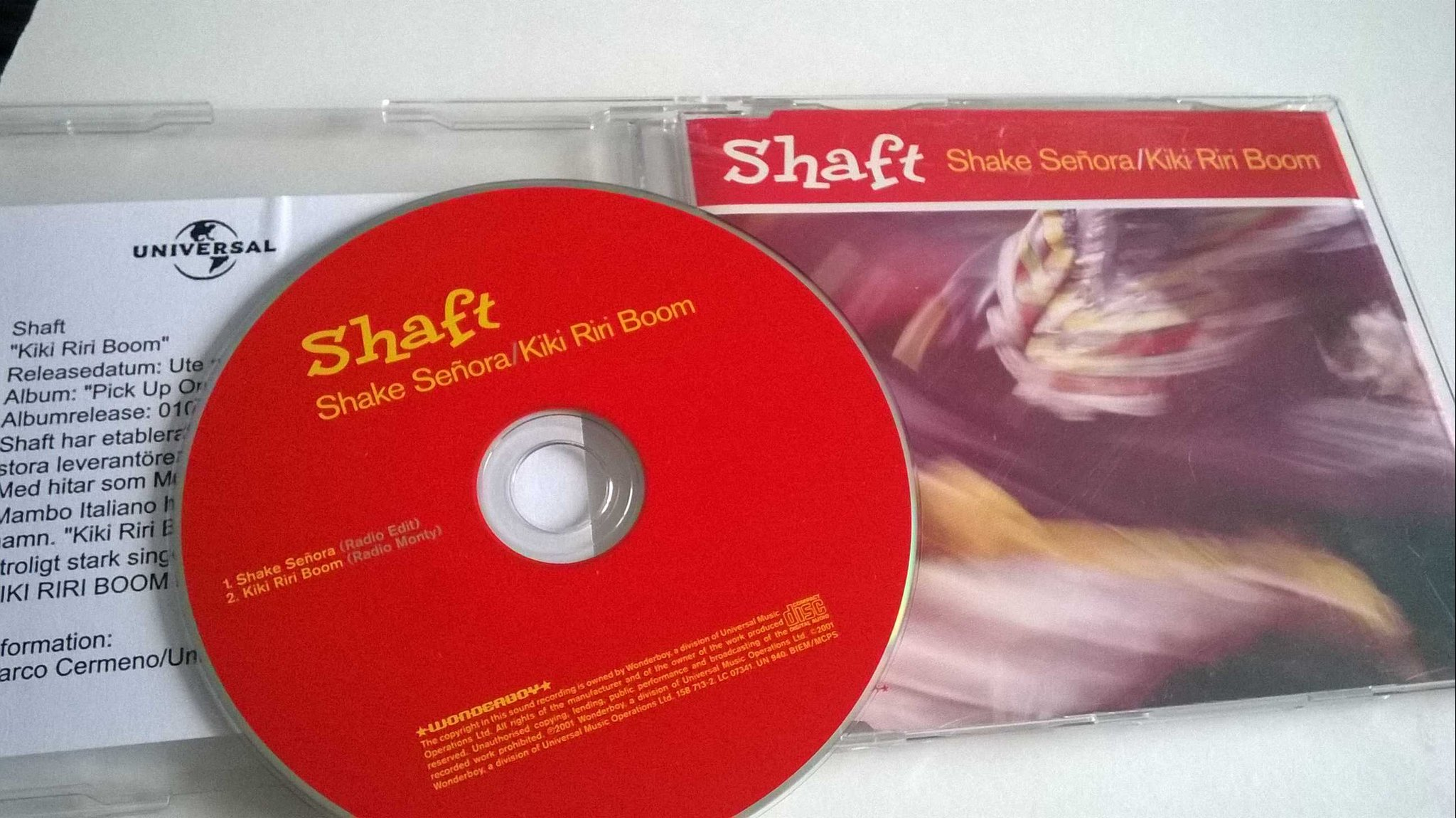 Shaft - Shake Señora / Kiki Riri Boom, CD, Single