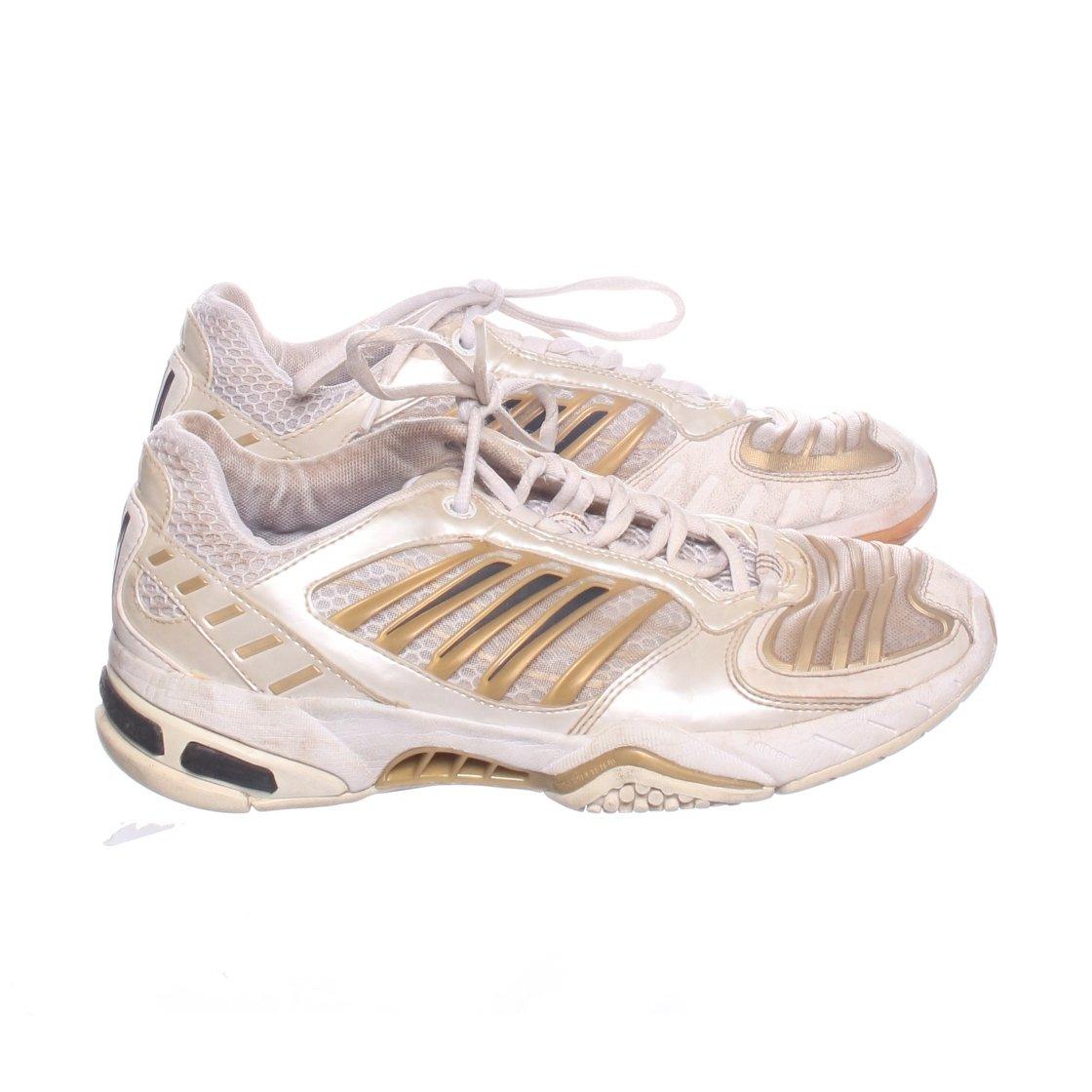 buy online de0a3 59e04 Adidas, Tennisskor, Strl  38 2 3, adiPrene, Vit Guldfärgad