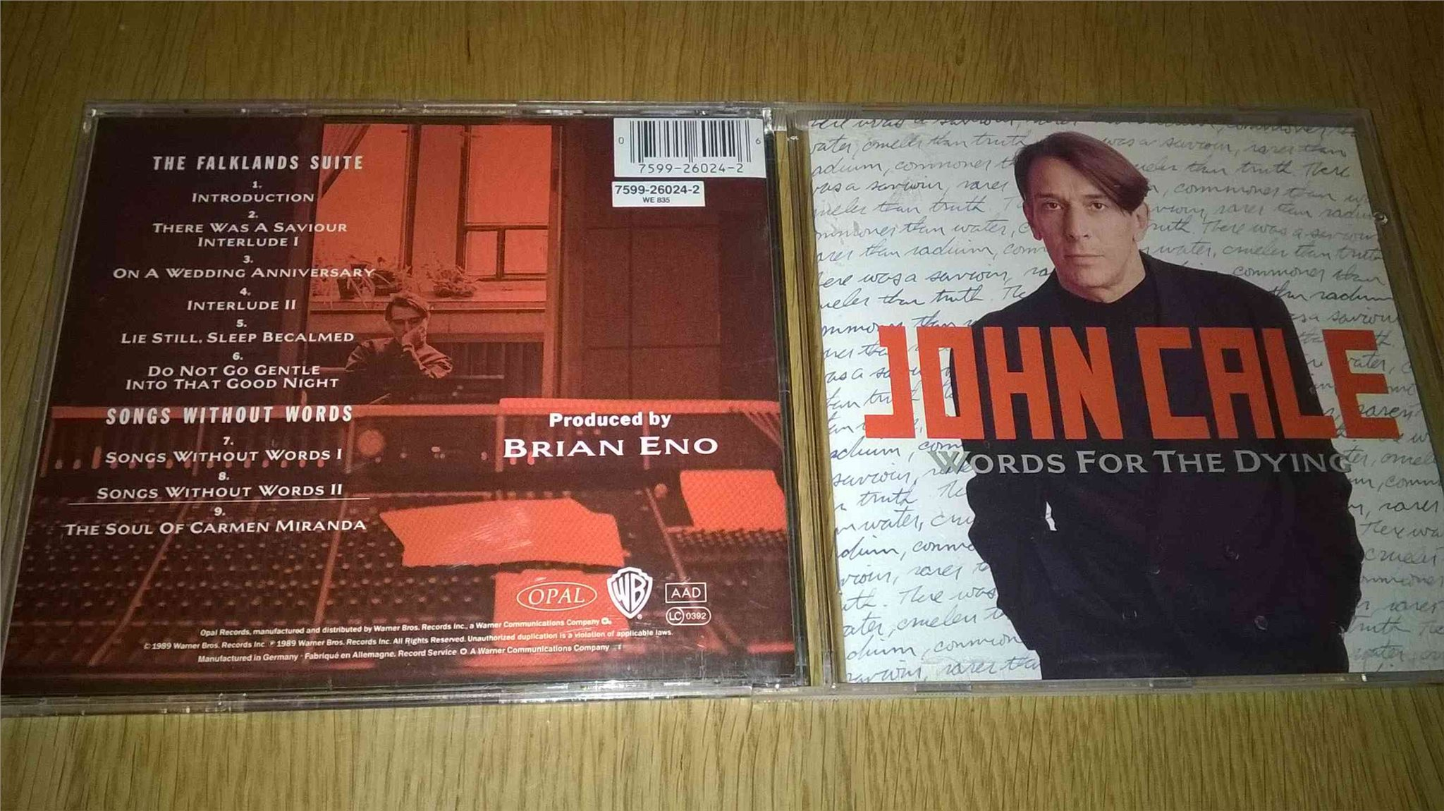 John Cale - Words For The Dying, CD