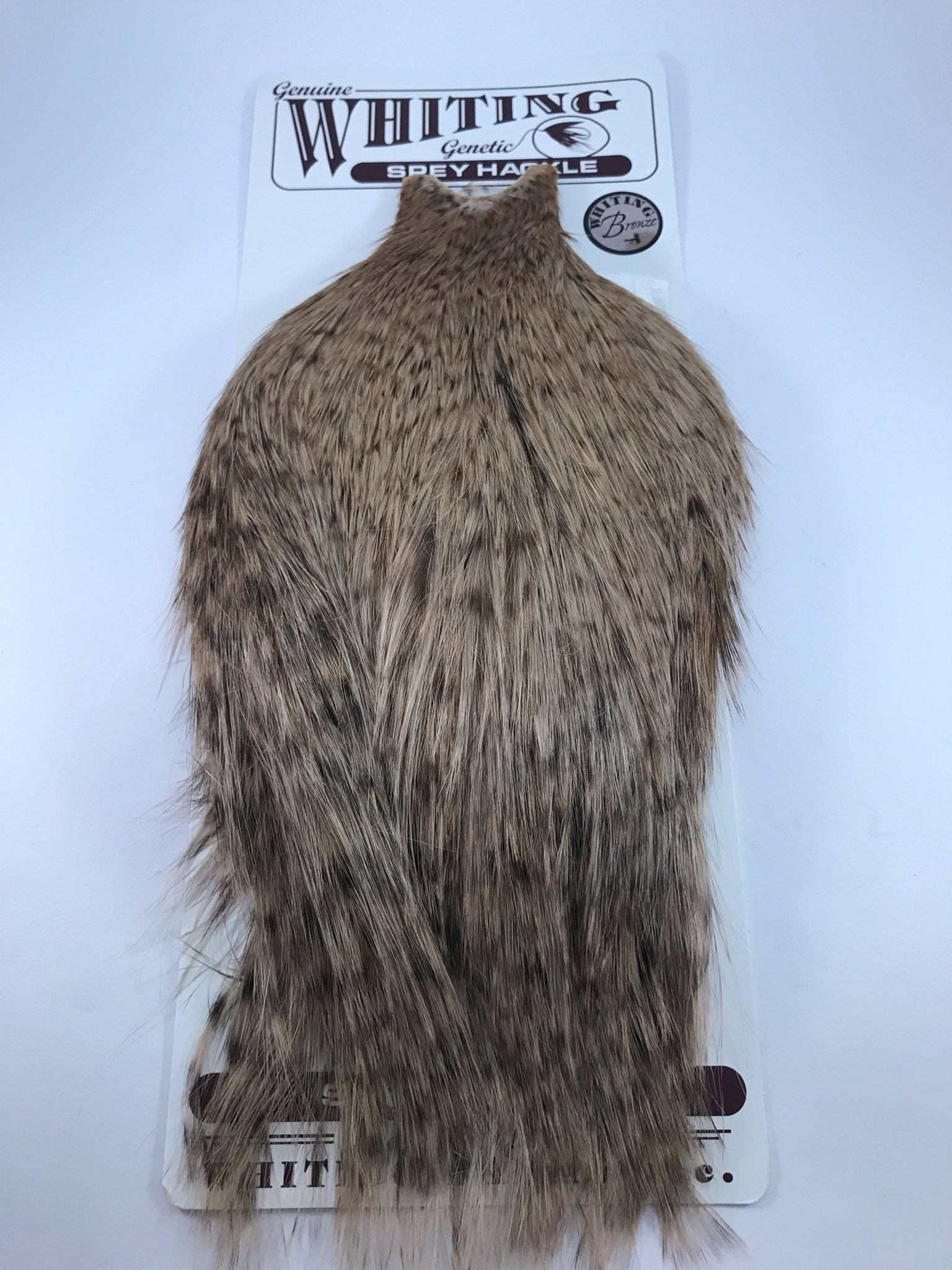 Whiting Spey Cape Bronze Grizzly Dyed Tan (357780540) ᐈ Köp på Tradera