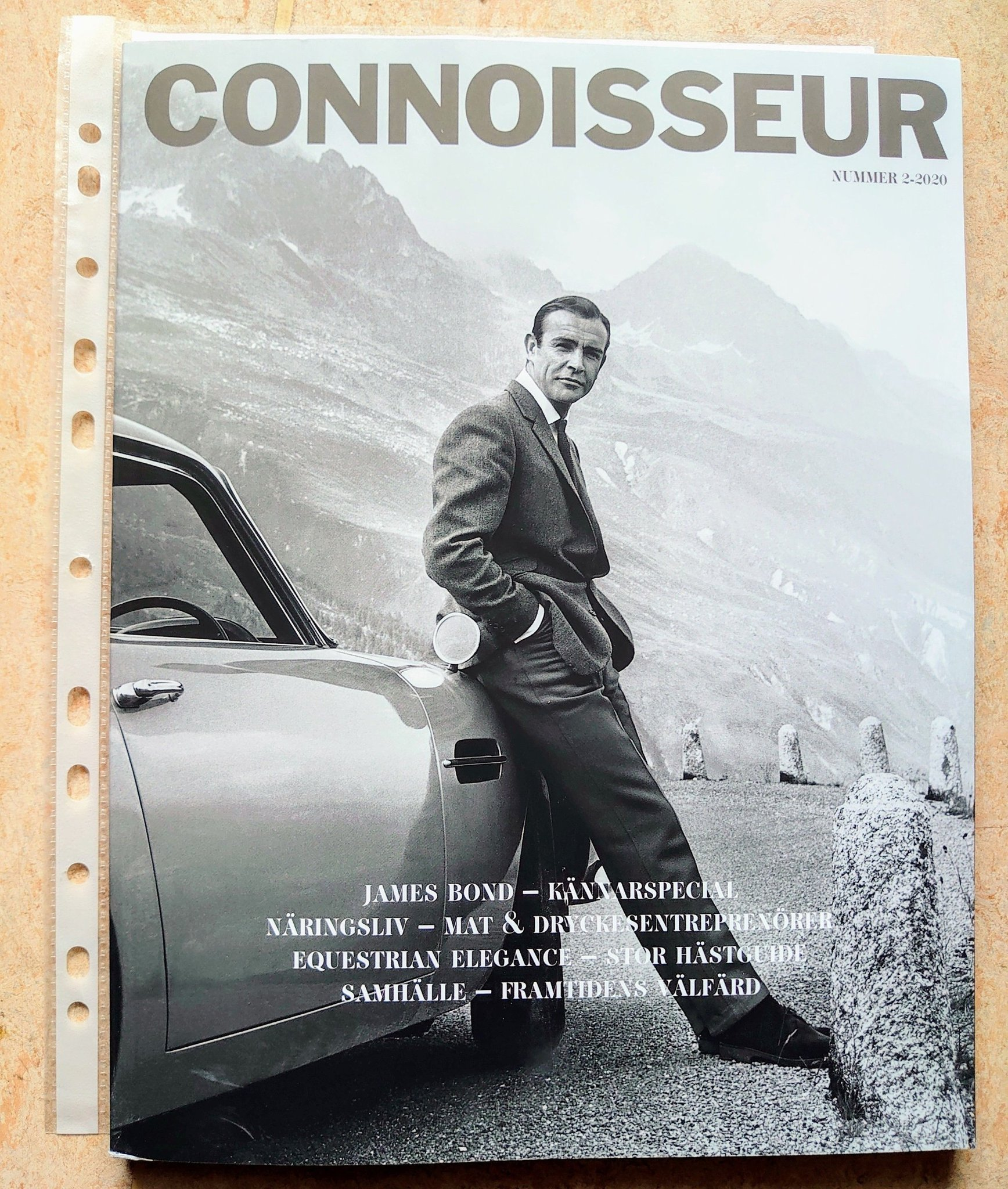 "MAGASIN - CONNOISSEUR NR 2 2020 - ""JAMES BOND - KÄNNARSPECIAL..."" /ny /oläst ex."