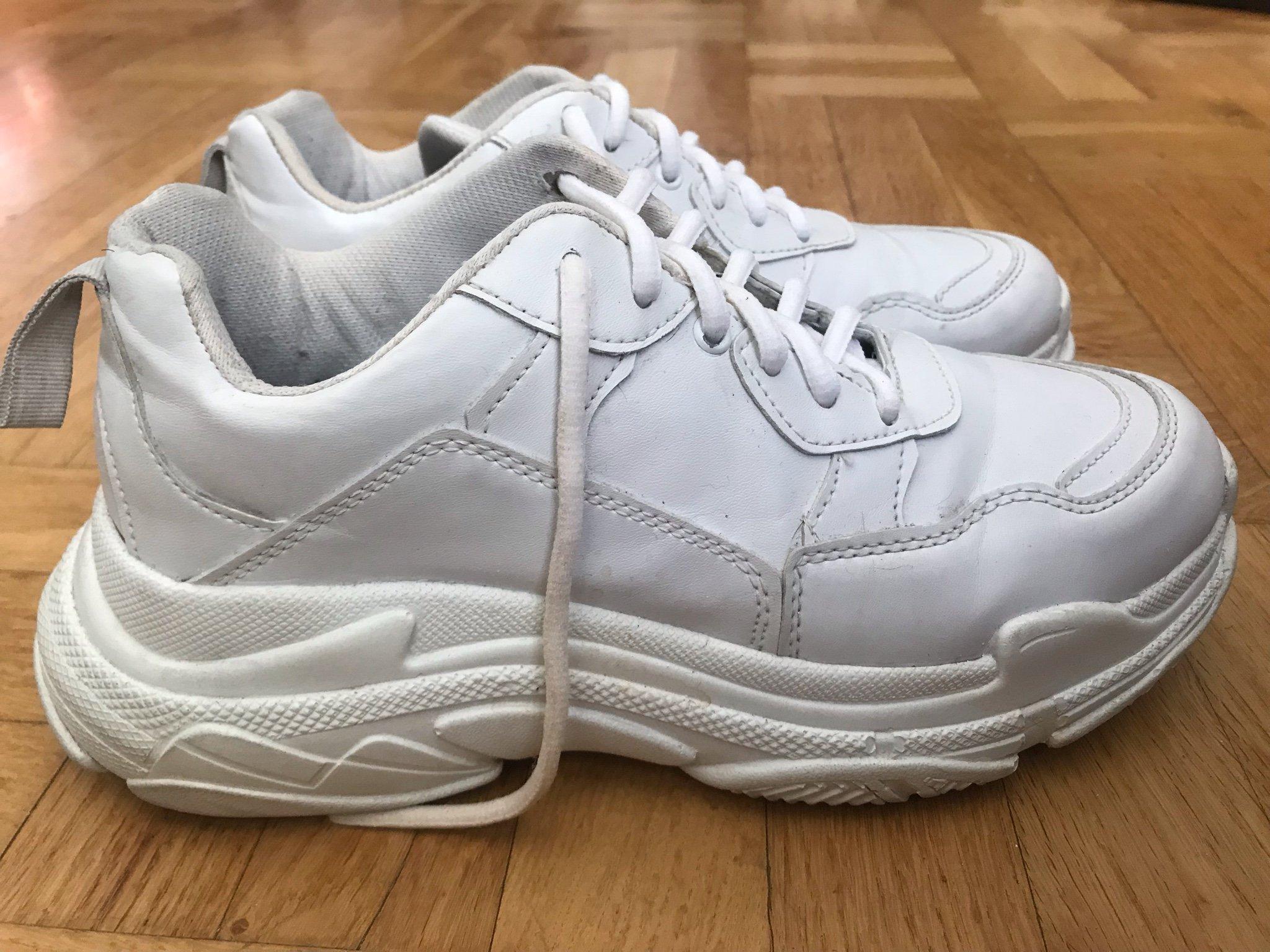 buy popular 55724 6d740 Nelly skor vita sneakers chunky heels 90-tal stl 39