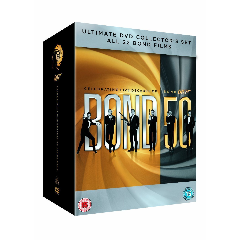 bond 50 år James Bond 50 year collection box 22 filmer dvd.. (313802327) ᐈ  bond 50 år