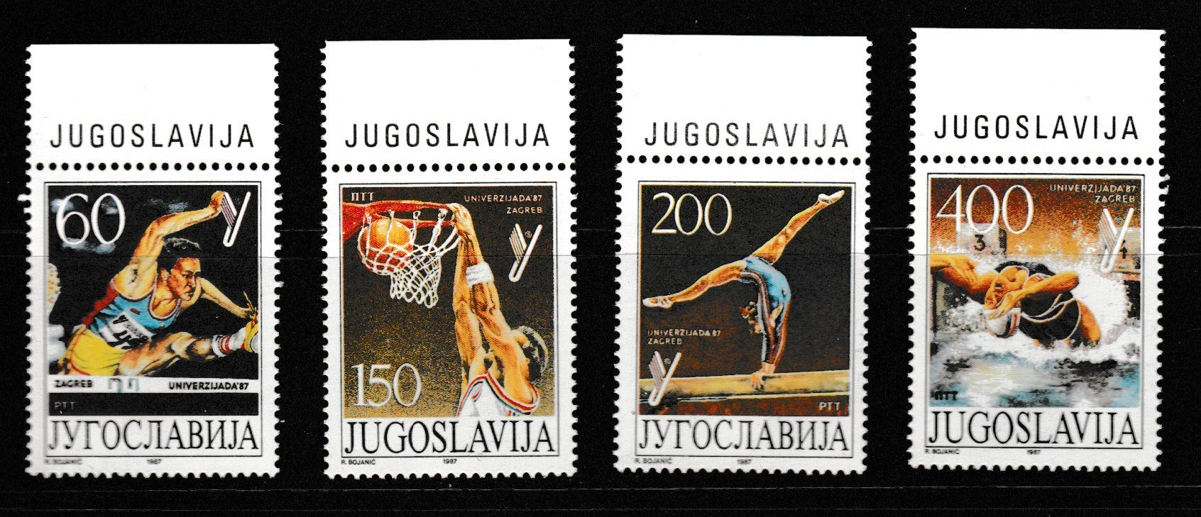 Jugoslavien 1987, Universiade Zagreb 4v ** Mi