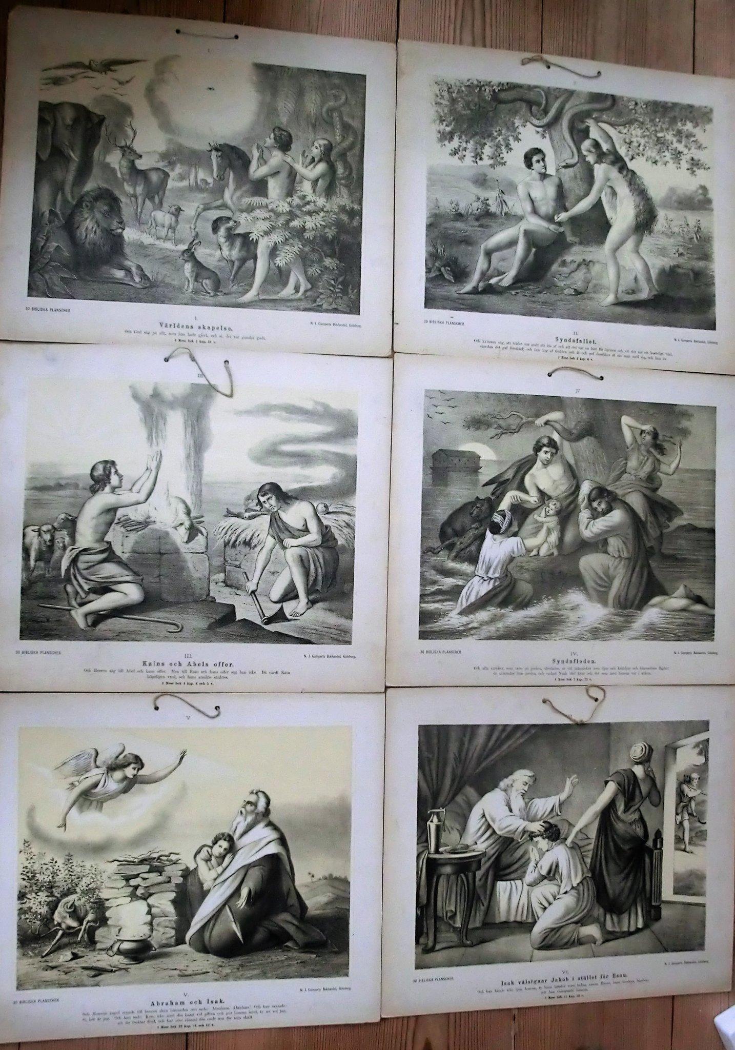 Planscher 30 st 50 x 44 cm Kristendomen i nummerordning I XXX,6 planscherbild