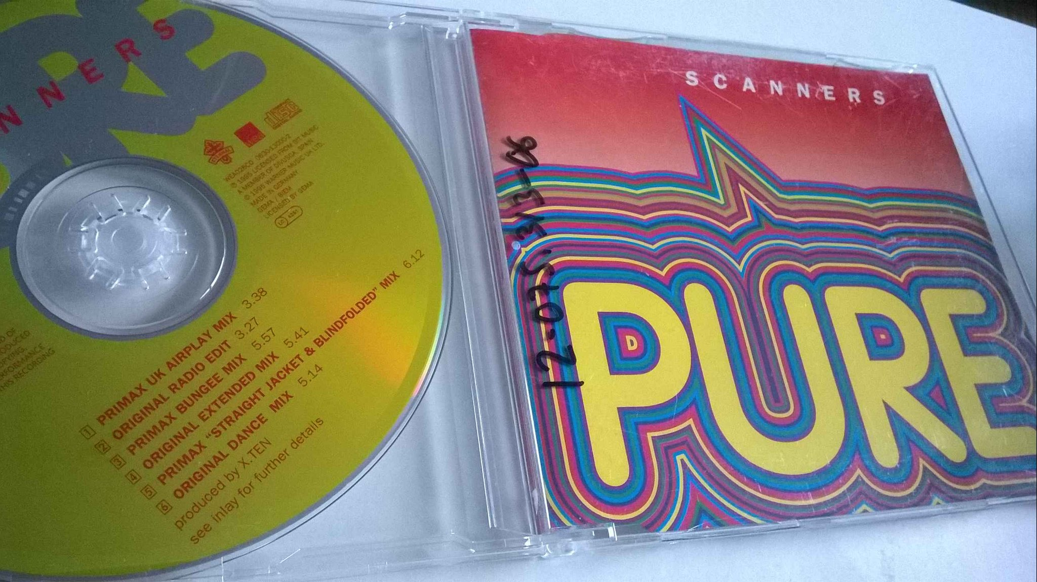 Scanners - Pure, CD, Maxi-Single, rare!