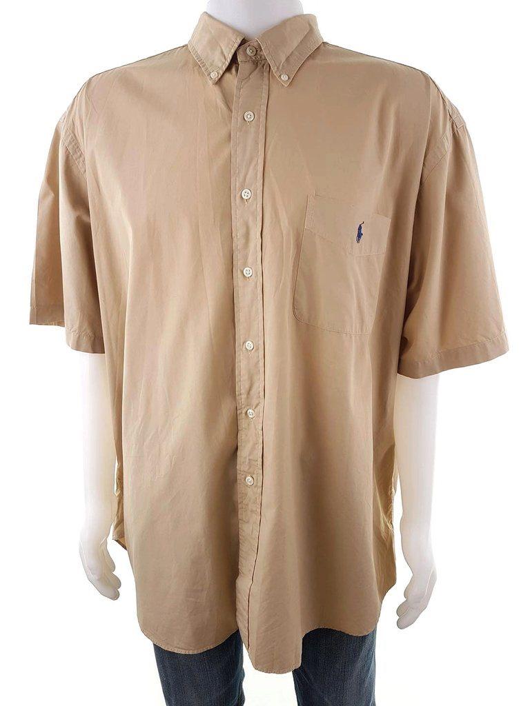 Polo Ralph Lauren Skjorta Kortärmad Storlek 2XL Beige 100% Bomull Logo