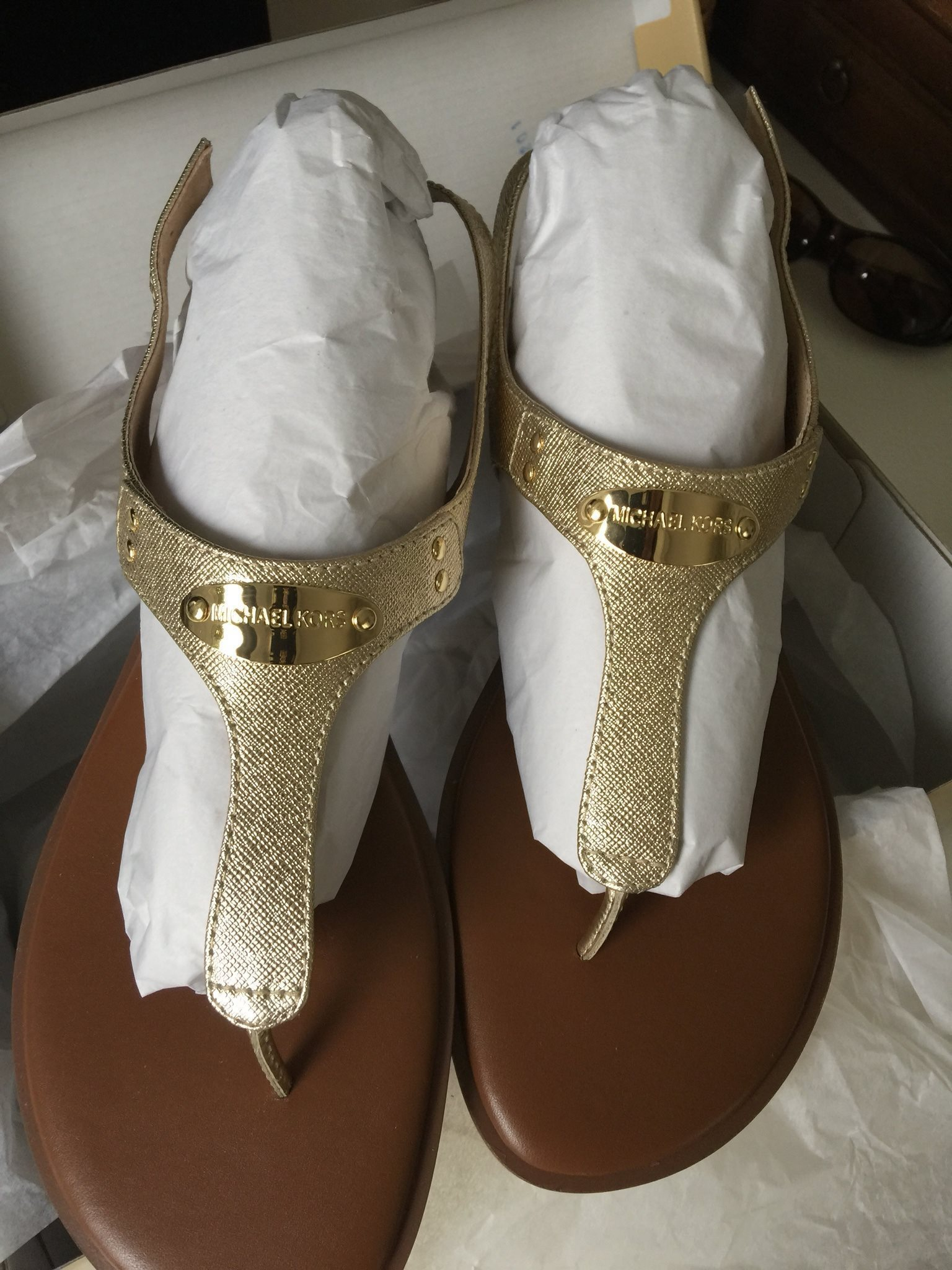 76e5efa535 Helt nya aldrig använda Michael Kors sandaler s.. (335847611) ᐈ Köp ...