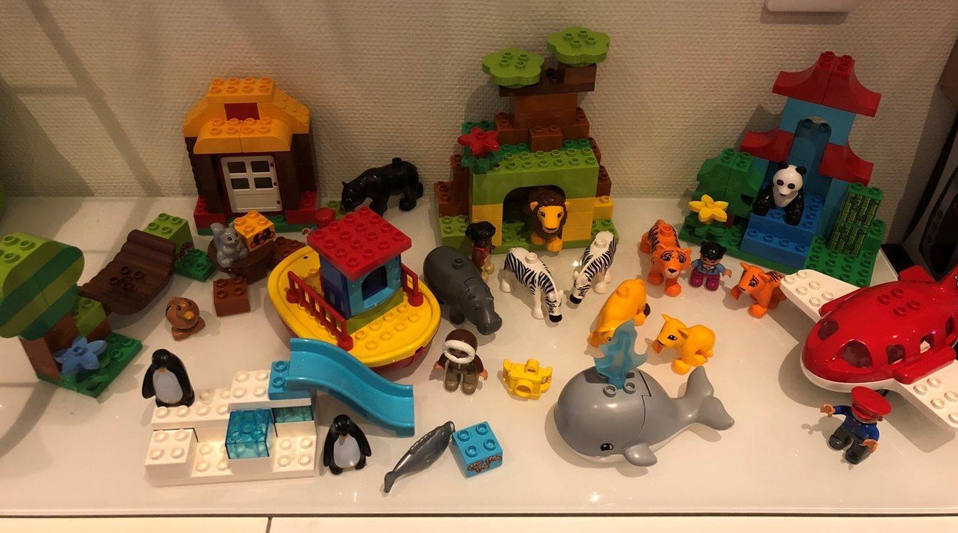 Lego DUPLO - jorden runt - djur och miljöer från hela världen