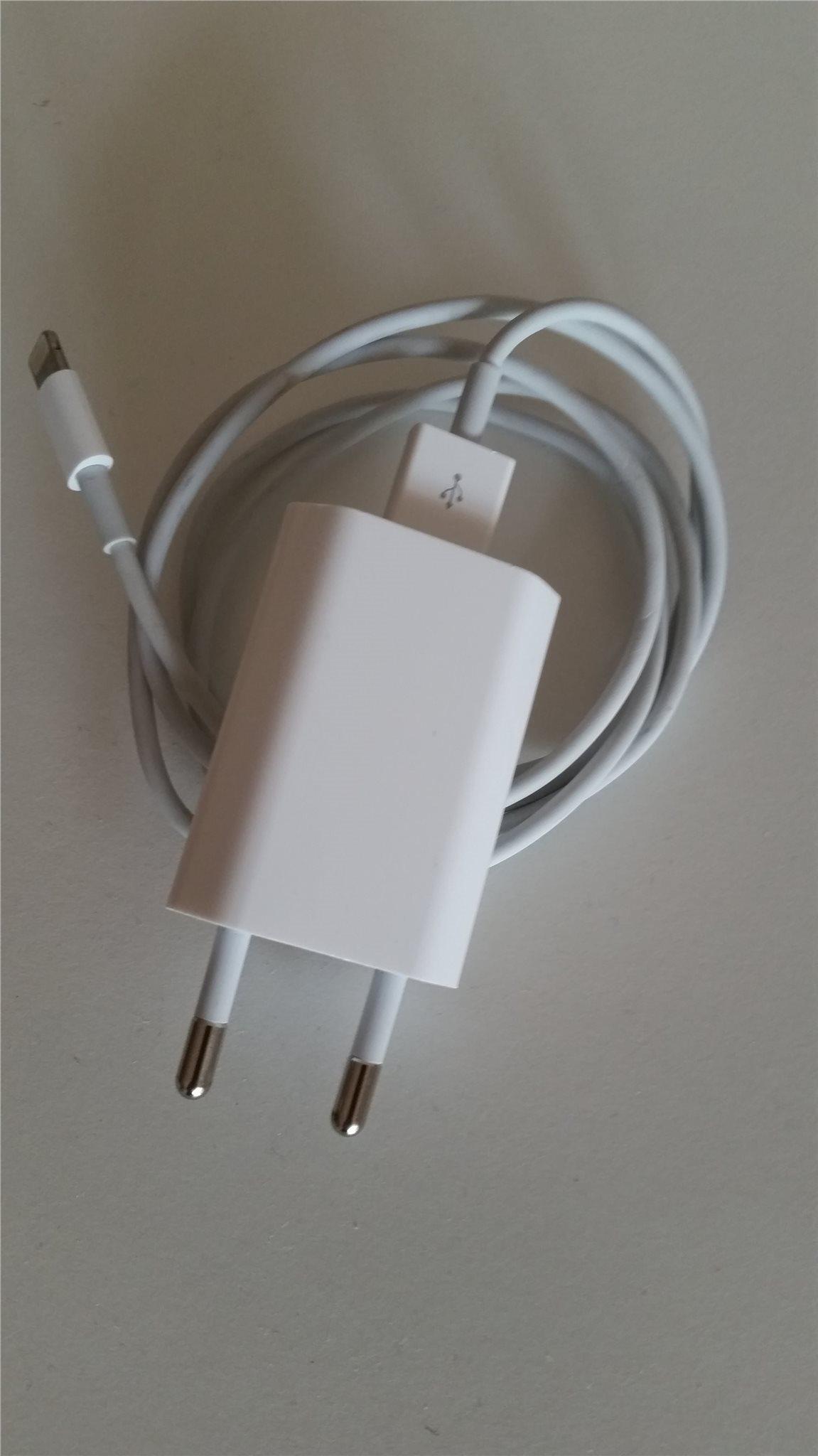 Apple Original 5W laddare iPhoneiPad (Lightning till USB kabel och nätadapter)