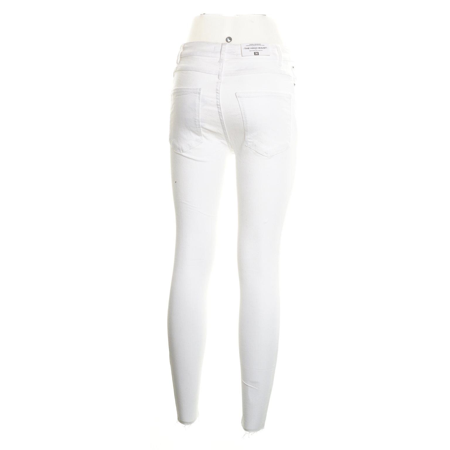 Zara Woman, Jeans, Strl: Strl: Strl: 36, Slim Skinny High, Vit a563e1