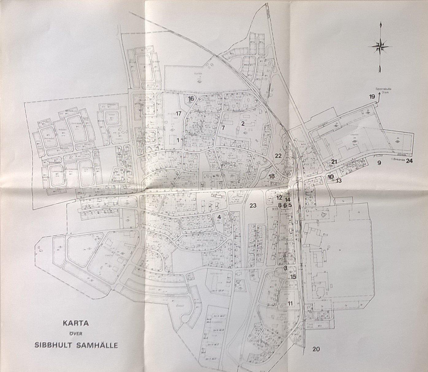 Karta Over Sibbhults Samhalle I Ostra Goinge Ko 377414698 ᐈ