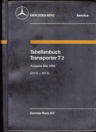 MERCEDES TRANSPORTBILAR 1988 TABELLBOK.